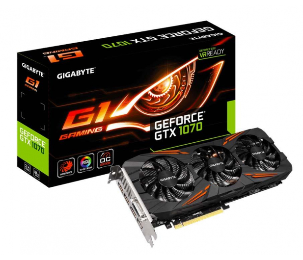 Gigabyte GeForce GTX 1070 G1 Gaming 8GB GDDR5 - 309923 - zdjęcie