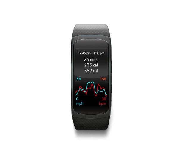 Samsung Gear Fit 2 (L) SM-R3600 czarny - 309274 - zdjęcie 3