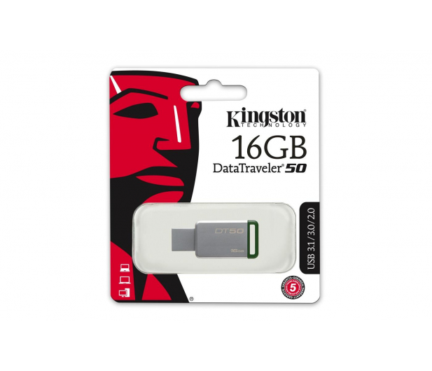 Kingston 16GB DataTraveler 50 30MB/s (USB 3.1 Gen 1)  - 318994 - zdjęcie 2