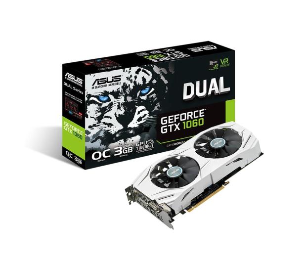 ASUS GeForce GTX 1060 Dual OC 3GB GDDR5 - 321659 - zdjęcie