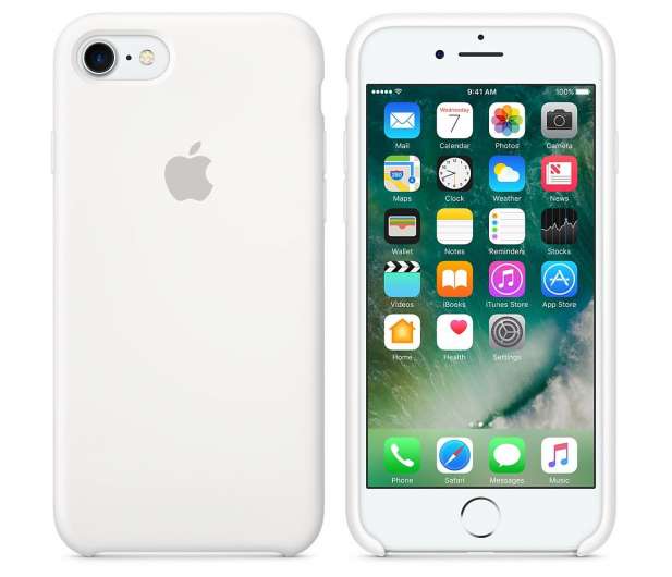Apple Silicone Case do iPhone 7/8 White - 325687 - zdjęcie