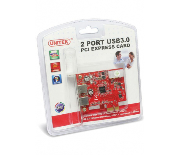 Unitek PCI Express -> 2x USB 3.0 - 326039 - zdjęcie 2