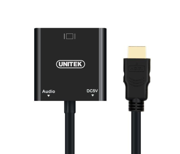 Unitek Adapter HDMI - VGA, Audio (Jack 3.5mm) - 326082 - zdjęcie 2