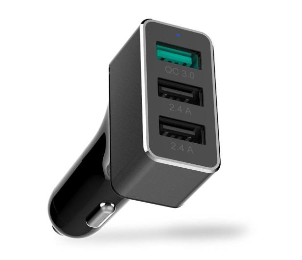 Unitek Ładowarka Samochodowa 2 x USB 2.4A + QC 3.0 42W - 324867 - zdjęcie 2