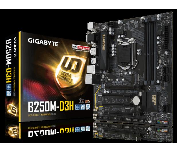 Gigabyte GA-B250M-D3H (2xPCI-E DDR4 USB3.1/M.2) - 342920 - zdjęcie