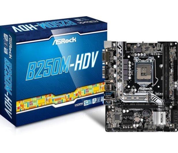 ASRock B250M-HDV (PCI-E DDR4 USB3/M.2) - 342783 - zdjęcie