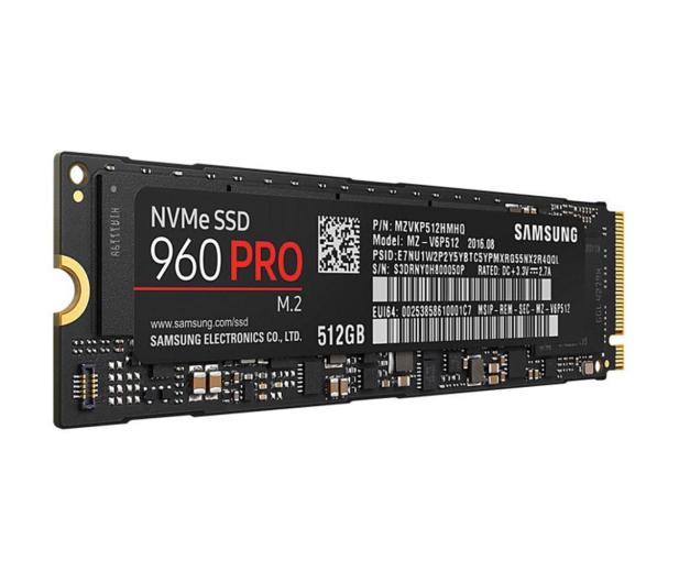 Samsung 512GB 1,8'' Seria 960 Pro M.2 2280 NVMe  - 345076 - zdjęcie 3