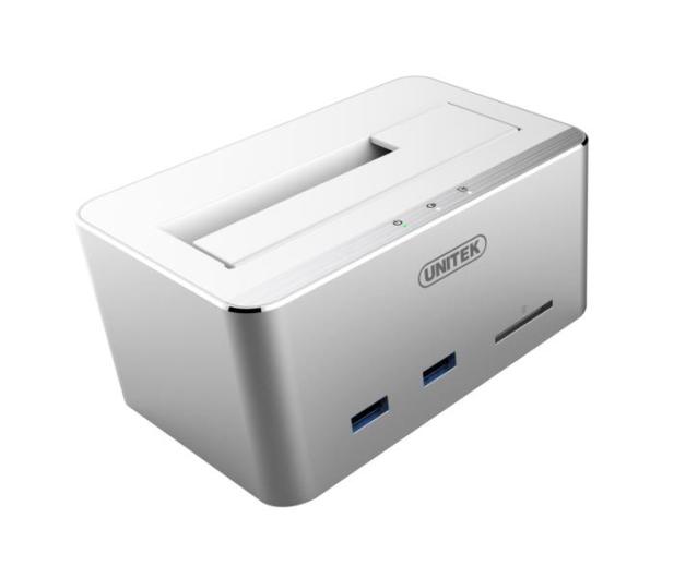 """Unitek Stacja dokująca 2.5""""/3.5"""" (HDD/SSD USB SD) - 347066 - zdjęcie 2"""