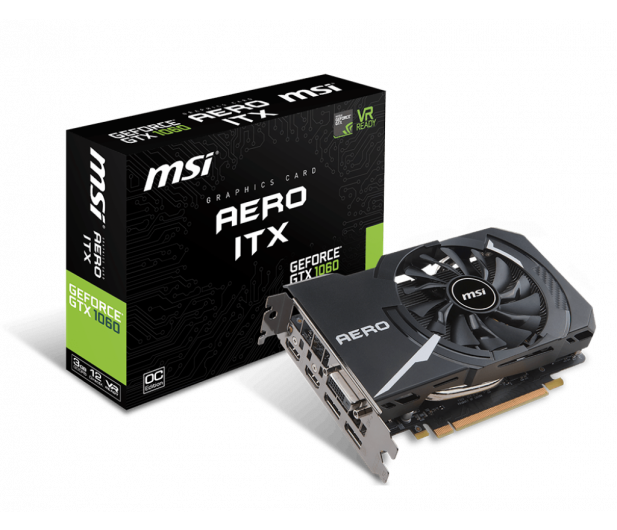 MSI GeForce GTX 1060 Aero ITX OC 3GB GDDR5 - 350016 - zdjęcie