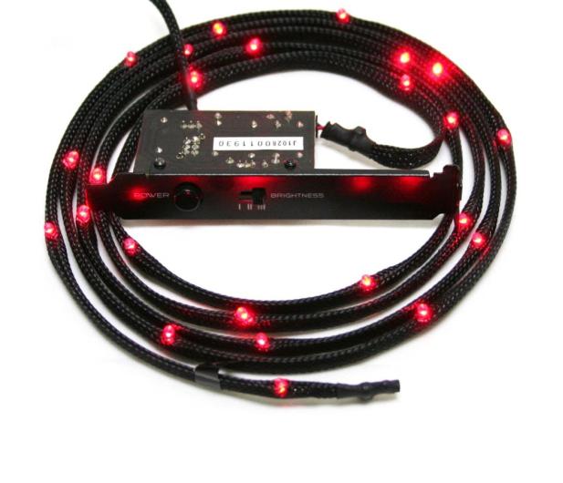 NZXT Zestaw oświetlający LED czerwony - 347840 - zdjęcie
