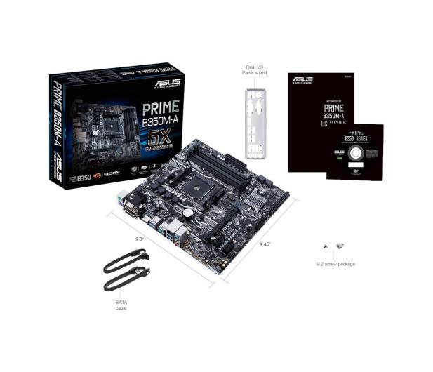 ASUS PRIME B350M-A + Ryzen 5 1600 + Crucial 8GB 2400MHz - 391655 - zdjęcie 9