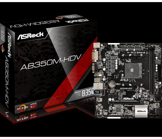ASRock AB350M-HDV - 351557 - zdjęcie