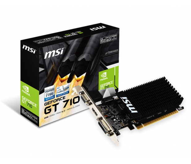 MSI GeForce GT 710 Low Profile 2GB DDR3 - 285436 - zdjęcie