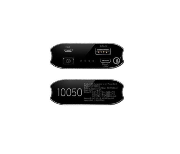 ADATA Power Bank 10050 mAh tytanowy z quickcharge - 349092 - zdjęcie 2