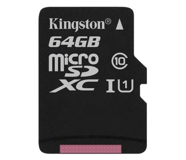 Kingston 64GB microSDXC Class10 zapis 10MB/s odczyt 45MB/s - 263201 - zdjęcie