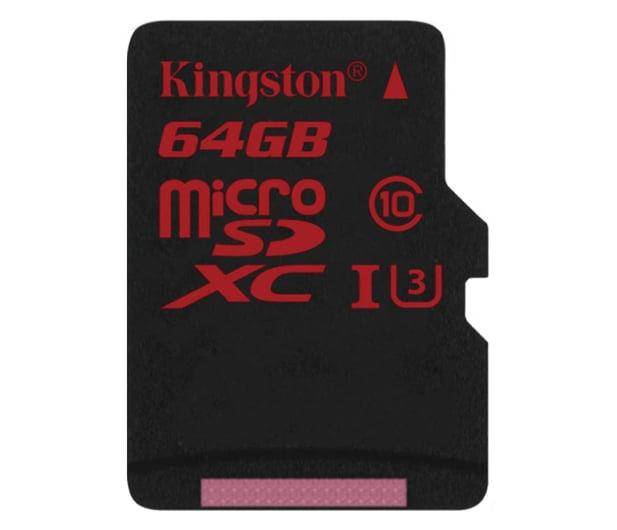 Kingston 64GB microSDXC UHS-I U3 zapis 80MB/s odczyt 90MB/s - 219778 - zdjęcie