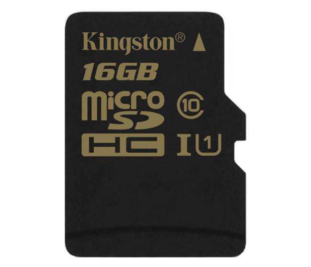 Kingston 16GB microSDHC Class10 zapis 45MB/s odczyt 90MB/s - 185516 - zdjęcie