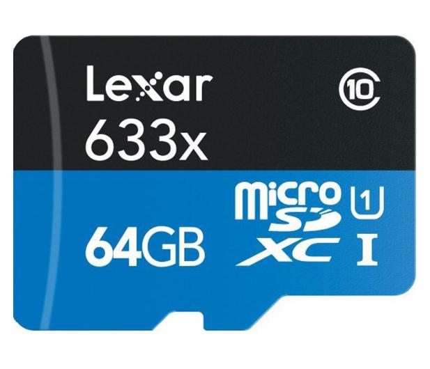 Lexar 64GB microSDXC 633x odczyt: 95MB/s zapis: 45MB/s - 352754 - zdjęcie
