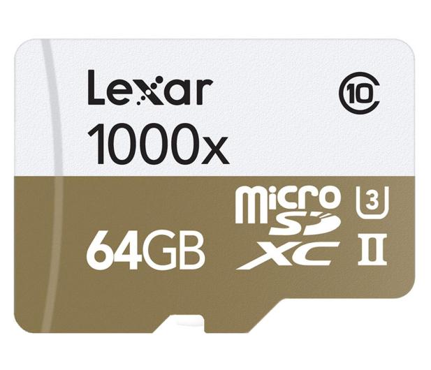 Lexar 64GB microSDXC 1000x 150MB/s + czytnik USB 3.0 - 318648 - zdjęcie