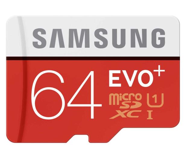 Samsung 64GB microSDXC Evo+ zapis 20MB/s odczyt 80MB/s  - 241030 - zdjęcie
