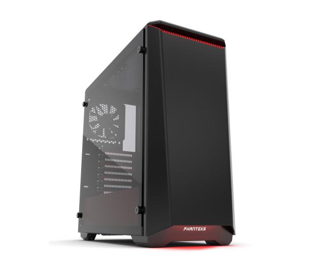Phanteks Eclipse P400 Tempered Glass czarno-czerwona - 356325 - zdjęcie