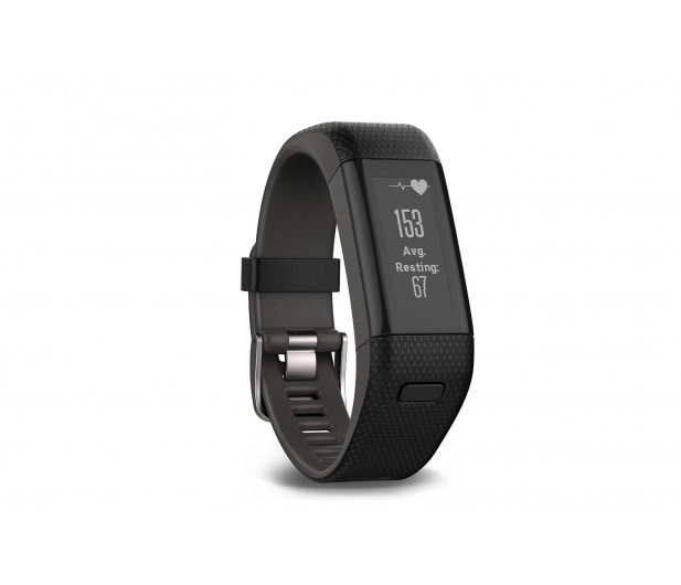 Garmin Vivosmart HR+ PL GPS czarny - 319839 - zdjęcie