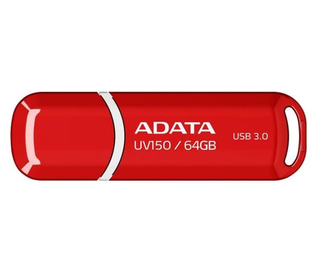ADATA 64GB DashDrive UV150 czerwony (USB 3.1) - 262334 - zdjęcie