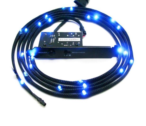 NZXT Zestaw oświetlający LED niebieski 2m - 358197 - zdjęcie