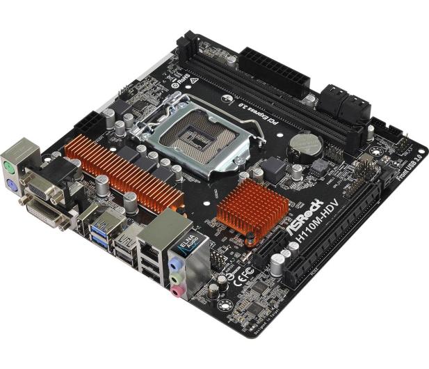 ASRock H110M-HDV R3.0 (PCI-E DDR4 USB3.0) - 354553 - zdjęcie 2