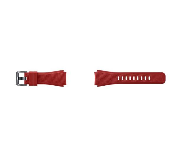 Samsung Silikonowy pasek do Galaxy Gear S3 Czerwony - 360527 - zdjęcie