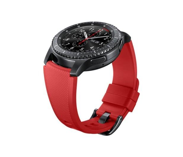 Samsung Silikonowy pasek do Galaxy Gear S3 Czerwony - 360527 - zdjęcie 3