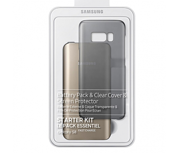 Samsung Powerbank 5200 mAh Fast Charge + Clear Cover do S8 - 355858 - zdjęcie