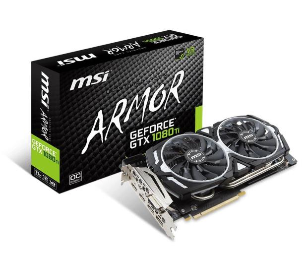 MSI GeForce GTX 1080 Ti ARMOR OC 11GB GDDR5X  - 361262 - zdjęcie