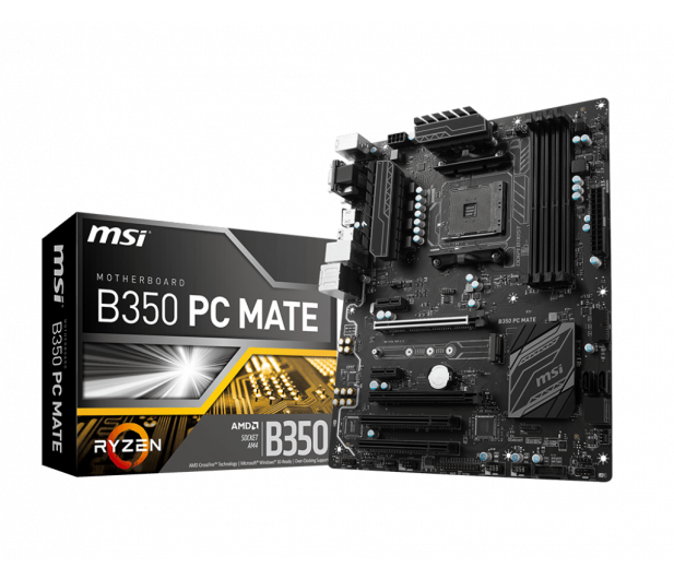 MSI B350 PC MATE (2xPCI-E DDR4 USB3.1/M.2) - 359657 - zdjęcie