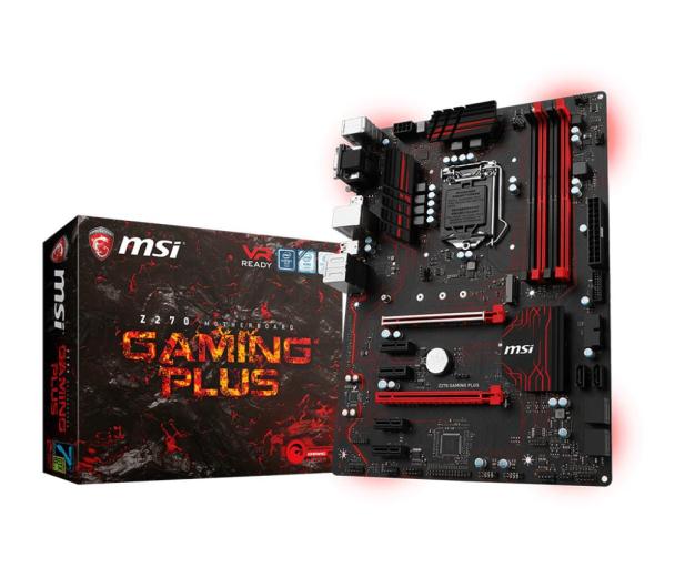 MSI Z270 GAMING PLUS (2xPCI-E DDR4 USB3.1/M.2) - 359655 - zdjęcie