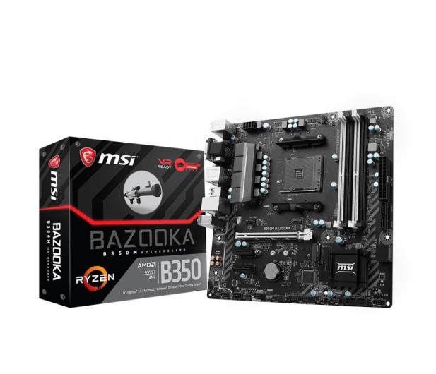 MSI B350M BAZOOKA (PCI-E DDR4 USB3.1/M.2) - 363614 - zdjęcie