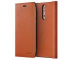 Nokia Leather Flip Cover do Nokia 8 Tan Brown (CP-801 Tan Brown)