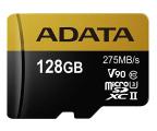 ADATA 128GB microSDXC zapis 155MB/s odczyt 275MB/s  (AUSDX128GUII3CL10-CA1)