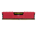 Corsair 8GB (1x8GB) 2400MHz CL16 Vengeance LPX Red  (CMK8GX4M1A2400C16R)
