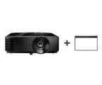 Optoma HD144X +Ekran ręczny 92' 203x114 16:9 Biały Matowy (E1P0A0UBE1Z2 + DS-9092PWC)