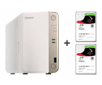 QNAP TS-251B-2G 4TB (2xHDD, 2x2-2.5GHz, 2GB, 5xUSB) (TS-251B-2G (w zestawie 2xST2000VN004))