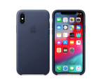 Apple iPhone XS Leather Case Midnight Blue (MRWN2ZM/A)