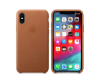 Apple iPhone XS Leather Case Saddle Brown (MRWP2ZM/A)