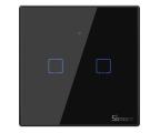 Sonoff Dotykowy Włącznik T3 EU TX (WiFi+RF433 2-kanałowy) (IM190314019 (czarny))