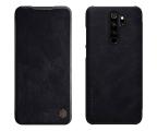 Etui/obudowa na smartfona Nillkin Etui Skórzane Qin do Redmi Note 8 Pro czarny