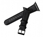 Sena Skórzany Pasek do Apple Watch 38/40mm czarny (SXD014NPUS)