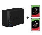 Synology DS218 2TB (2xHDD, 4x1.4GHz, 2GB, 3xUSB, 1xLAN) (DS218 (w zestawie 2xST1000VN002) )
