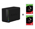 Synology DS218 4TB (2xHDD, 4x1.4GHz, 2GB, 3xUSB, 1xLAN) (DS218 (w zestawie 2xST2000VN004))