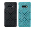 Samsung Pattern Cover do Galaxy S10e czarno zielony (EF-XG970CBEGWW)
