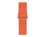Apple Opaska Skórzana do Apple Watch oranż (MV602ZM/A)